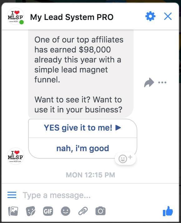 facebook messenger value